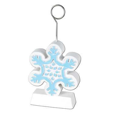 Snowflake Photo/Balloon Holder, 6 oz. , 3/Pack