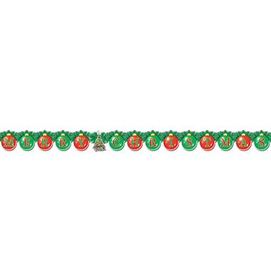 Banderole « Merry Christmas », 5 1/4 po x 5 pi, 6 po, paquet de 4