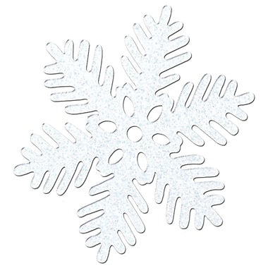 Flocons de neige scintillants, 8 po, paquet de 6