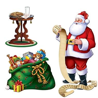 Accessoires de décoration « Père Noël », paquet de 6