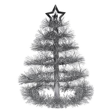 Milieu de table « Sapin de Noël argenté », 16 po, paquet de 2