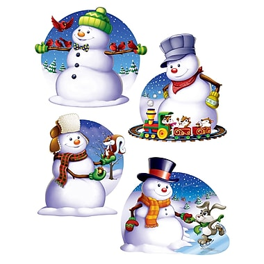 Découpes « Bonhomme de neige », 16 po, paquet de 12