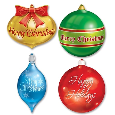 Packaged Christmas Ornament Cutouts, 13-1/2