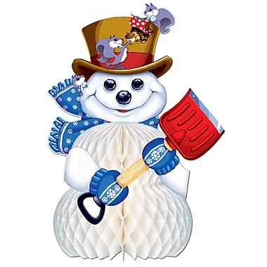 Snowman Centerpiece, 10-1/2