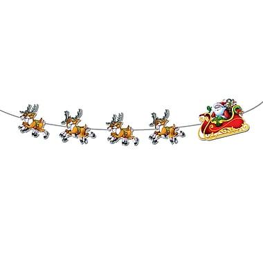 Banderole « Le père Noël et son traîneau », 8 pi, paquet de 3