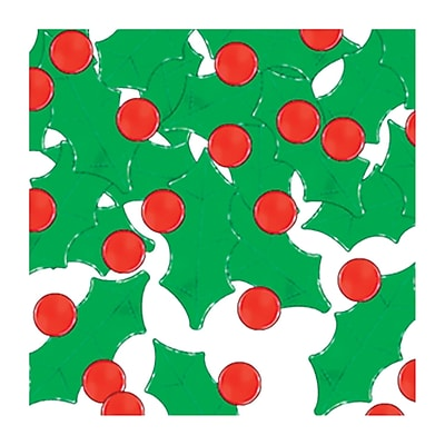 Beistle Holly & Berry Fanci Confetti, Red/Green, 5/Pack