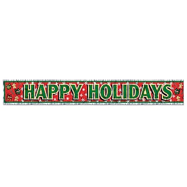Metallic Happy Holidays Fringe Banner, 8