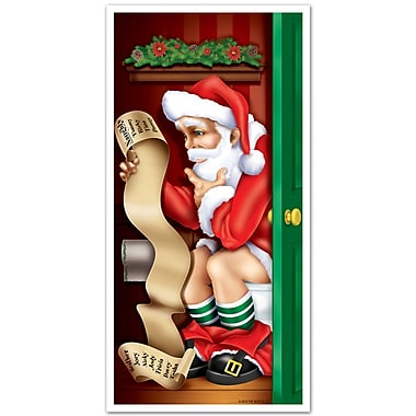 Santa Restroom Door Cover, 30