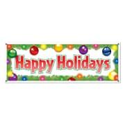 Banderole « Happy Holidays », 5 pi x 21 po, paquet de 3