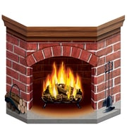 "Beistle 3' 1"" x 25"" Brick Fireplace Stand Up Cutouts, 2/Pack"