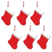 "Mini Christmas Stockings, 6"", 18/Pack"