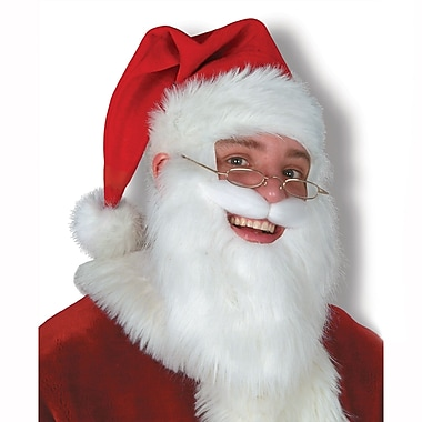 Plush Santa Hat with Beard & Moustache, , 2/Pack