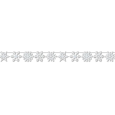 Glittered Snowflake Streamer, 8-1/2