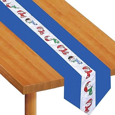 Chemin de table en tissu « Bonhomme de neige », 12 po x 6 pi, paquet de 2
