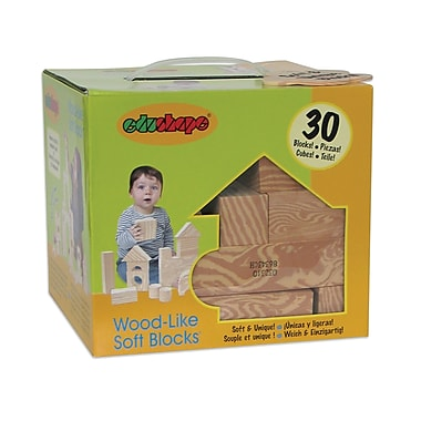 Edushape® Wood-Like-Soft Blocks, 30/Pack