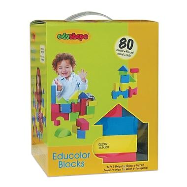 Edushape® EduColor Blocks, 80 Pieces