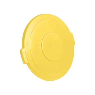 Carlisle Polyethylene Round Lid for 20 gal. Bronco Series Container, Yellow