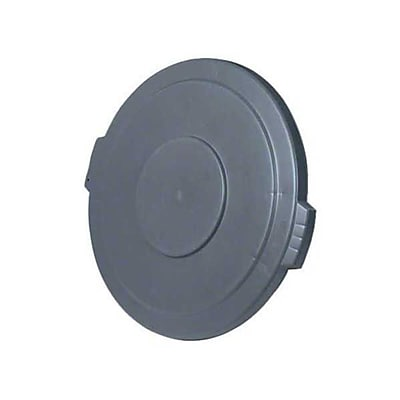 Carlisle Polyethylene Round Lid for 20 gal. Bronco Series Container, Gray