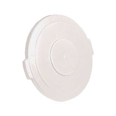 Carlisle Polyethylene Round Lid for 32 gal. Bronco Series Container, White