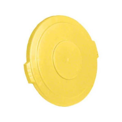 Carlisle Polyethylene Round Lid for 32 gal. Bronco Series Container, Yellow