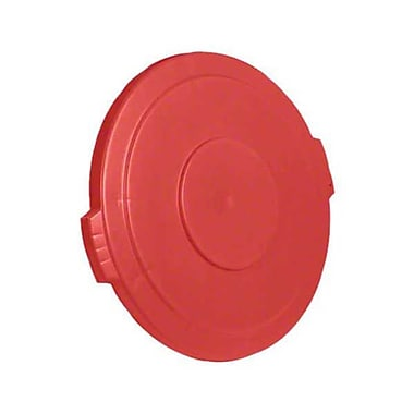 Carlisle Polyethylene Round Lid for 32 gal. Bronco Series Container, Red