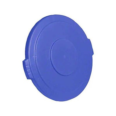 Carlisle Polyethylene Round Lid for 32 gal. Bronco Series Container, Blue
