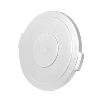 Carlisle Polyethylene Round Lid for 44 gal. Bronco Series Container, White