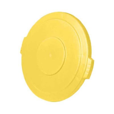 Carlisle Polyethylene Round Lid for 44 gal. Bronco Series Container, Yellow