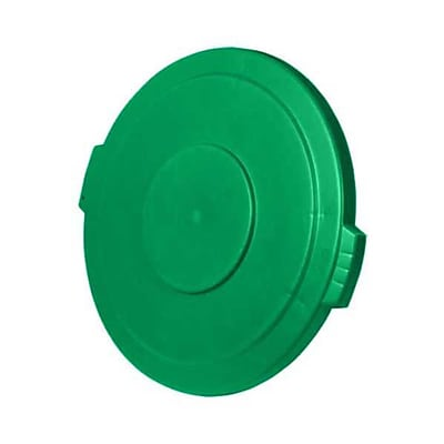 Carlisle Polyethylene Round Lid for 44 gal. Bronco Series Container, Green
