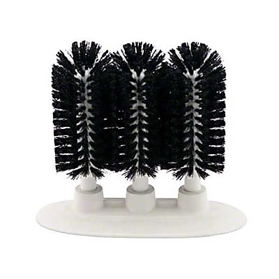 Carlisle 40461-03, 3-Brush Sparta Manual Glass Washing Brush, Black