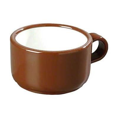 Carlisle 451228 12 oz. Soup/Latte Mugs, Lennox Brown