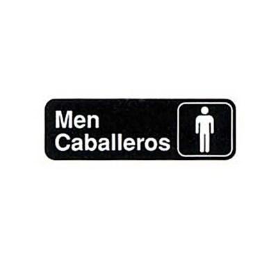 "Tablecraft 394566, ""Men/Caballeros"" Sign"