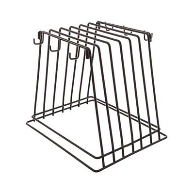 Update International CBRK-6N, 6-Slot Heavy-Duty Wire Frame Cutting Board Rack