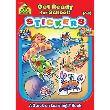 School Zone® Get Ready For School Sticker Workbook, Grades Preschool-K