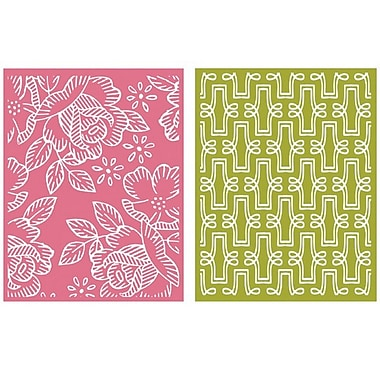 We R Memory Keepers™ Lifestyle Crafts Goosebumps A2 Embossing Folders, Tea Party