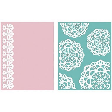 We R Memory Keepers™ Lifestyle Crafts Goosebumps A2 Embossing Folders, Doily
