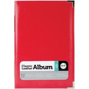 "We R Memory Keepers™ Classic Leather Ring Photo Album, 6"" x 12"", Real Red"