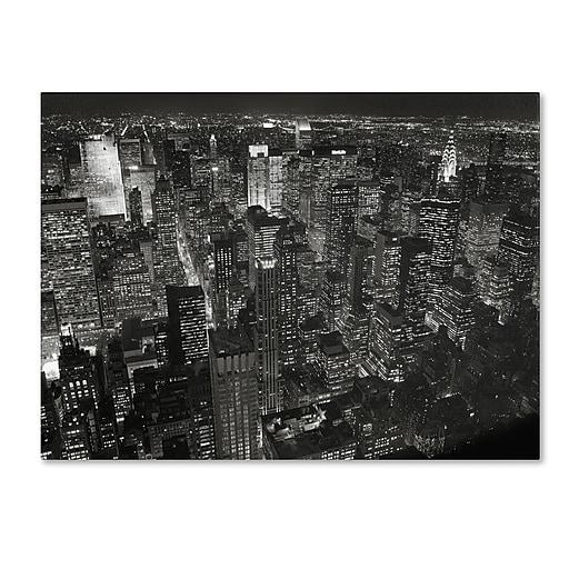 "Trademark Fine Art 'Night Skyline' 24"" x 32"" Canvas Art"