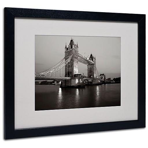 "Trademark Fine Art 'Tower Bridge I' 16"" x 20"" Black Frame Art"