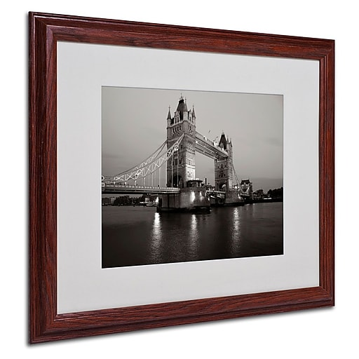 "Trademark Fine Art 'Tower Bridge I' 16"" x 20"" Wood Frame Art"