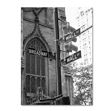 Trademark Fine Art 'Wall Street Signs' 24