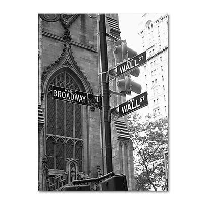 Trademark Fine Art 'Wall Street Signs' 14