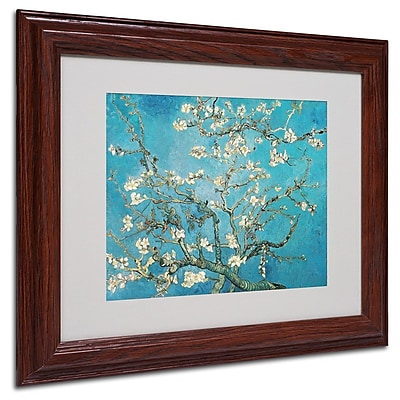 "Trademark Fine Art 'Almond Branches' 11"" x 14"" Wood Frame Art"