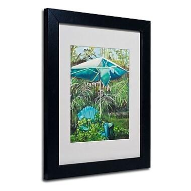 Trademark Fine Art 'Chair Umbrella Garden'