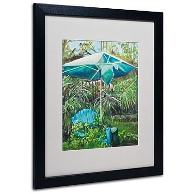 Trademark Fine Art 'Chair Umbrella Garden' 16