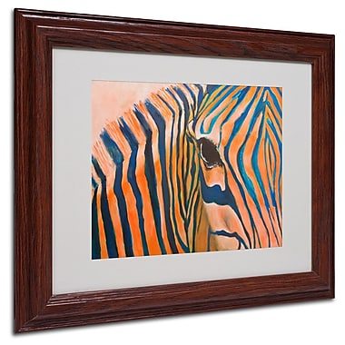 Trademark Fine Art 'Orange Zebra' 11