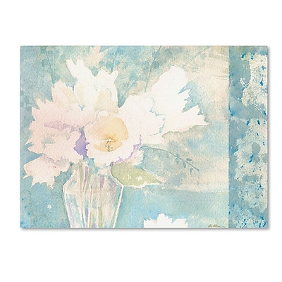 Trademark Fine Art 'White and Teal Composition' 24