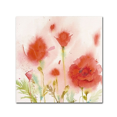 Trademark Fine Art 'Red Poppy Memory' 18