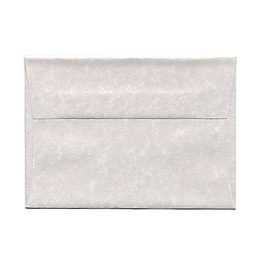 JAM Paper® 4bar A1 Envelopes, 3.63 x 5 1/8, Parchment Pewter Grey Recycled, 100/Pack (900755334g)