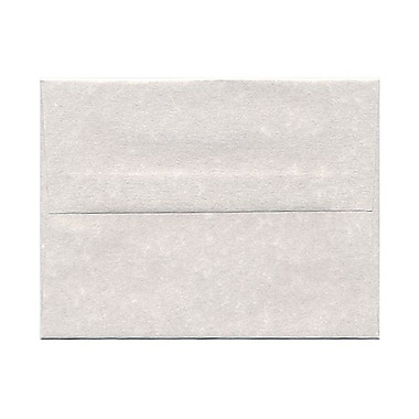 JAM Paper® A2 Invitation Envelopes, 4.38 x 5.75, Parchment Pewter Grey Recycled, 100/Pack (34876g)